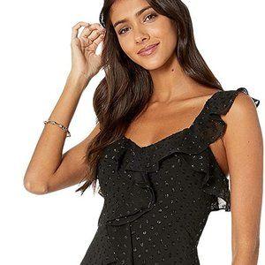 Lilly Pulitzer Riland maxi black gold maxi dress